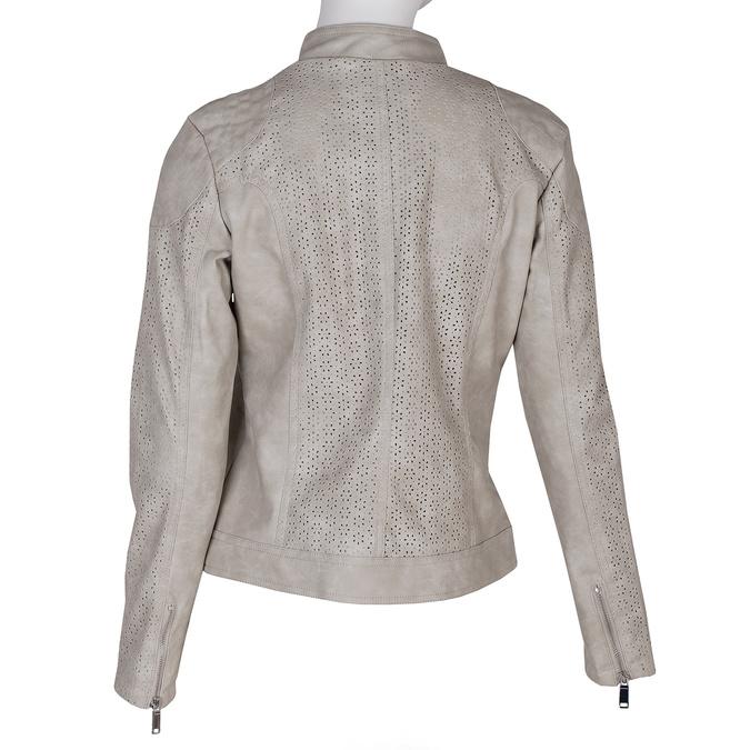 Koženková bunda s perforací bata, béžová, 971-1202 - 26