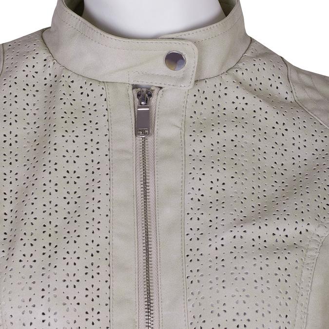 Koženková bunda s perforací bata, béžová, 971-1202 - 16