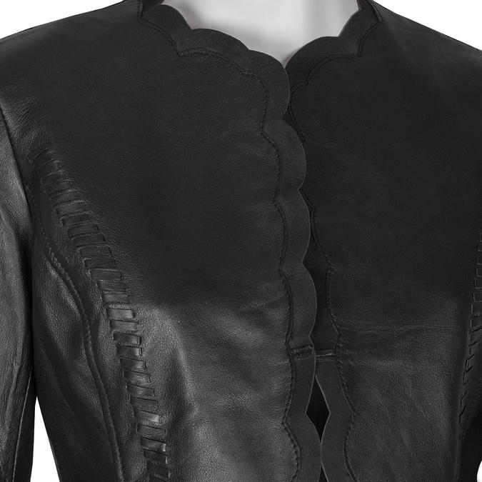 Kožené dámské sako černé bata, černá, 974-6179 - 16