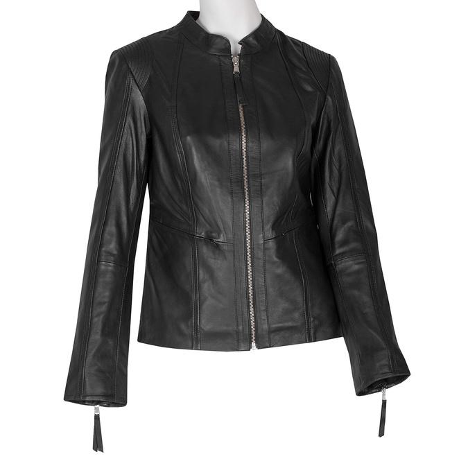 Černá kožená bunda dámská bata, černá, 974-6180 - 13