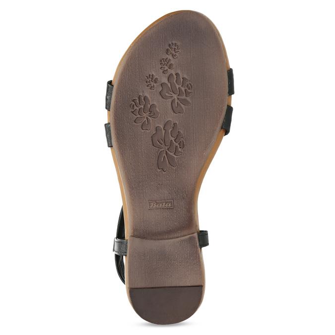Černé kožené sandály dámské bata, černá, 566-6635 - 18