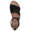 Kožené sandály s pásky kolem kotníku bata, černá, 566-6646 - 17