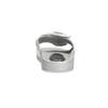 Stříbrné saténové nazouváky s perličkami bata, stříbrná, 569-1615 - 15