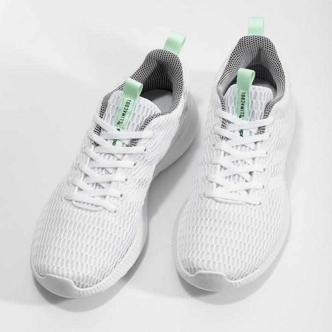 Bílé síťované tenisky adidas, bílá, 509-1635 - 16