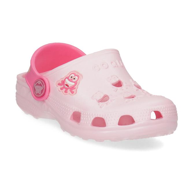 Dívčí růžové sandály se žabičkou coqui, růžová, 272-5650 - 13