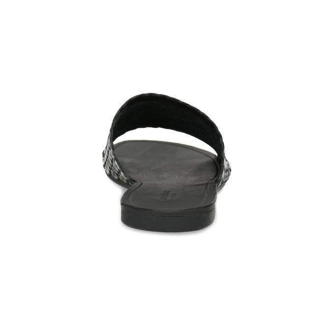 Kožené nazouváky s pleteným vzorem vagabond, černá, 564-6023 - 15