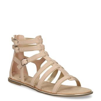 Béžové dámské sandály Gladiátorky bata, 561-8620 - 13
