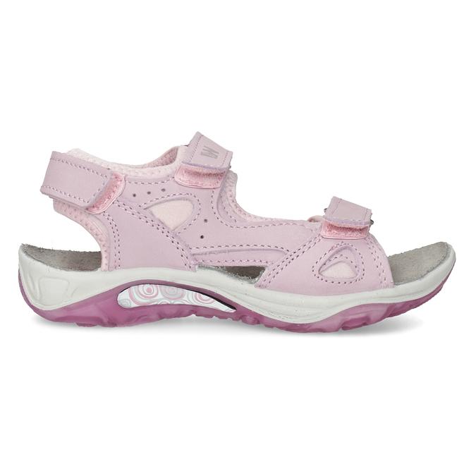 Dívčí kožené sandály v Outdoor stylu weinbrenner, růžová, 366-5606 - 19