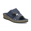 Modré nazouváky s kamínky na klínku comfit, modrá, 574-9438 - 13