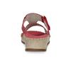 Červené kožené nazouváky na klínku s kamínky comfit, červená, 574-5438 - 15