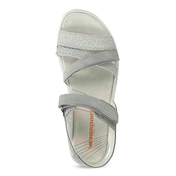 Kožené sandály v Outdoor stylu šedé weinbrenner, šedá, 566-2634 - 17