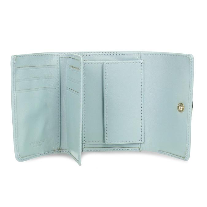 Modrá kožená peněženka se zlatým zapínáním vagabond, modrá, 966-9063 - 15