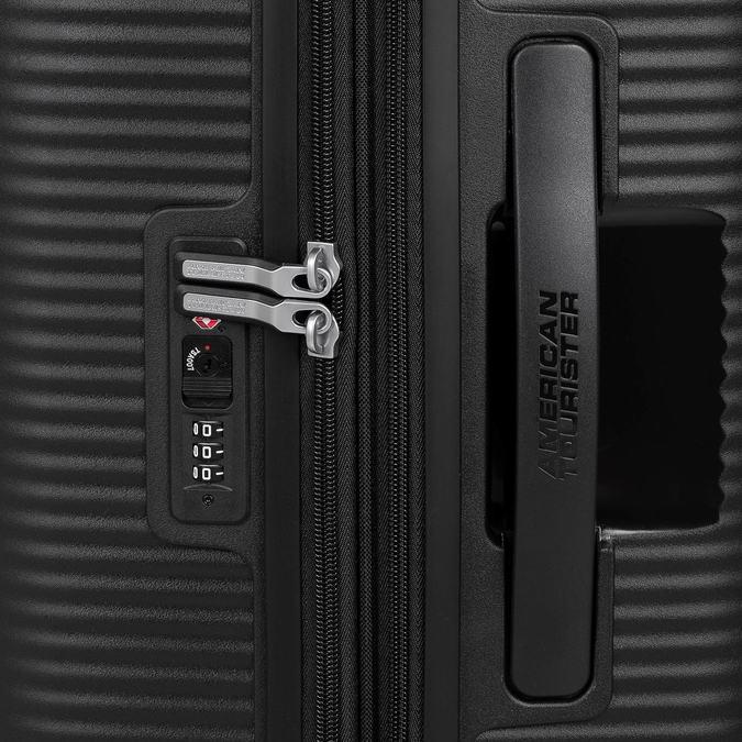 Černý kufr se skořepinou na kolečkách american-tourister, černá, 960-6613 - 15