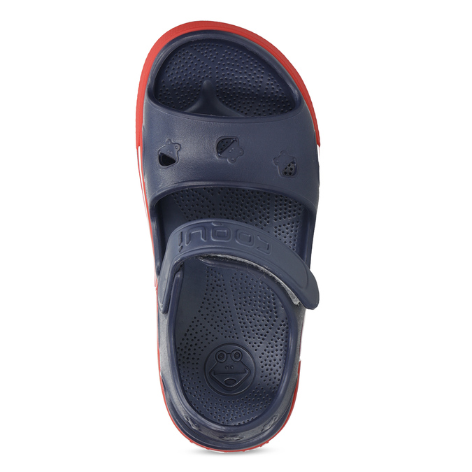 Dětké tmavě modré sandály coqui, modrá, 372-9658 - 17