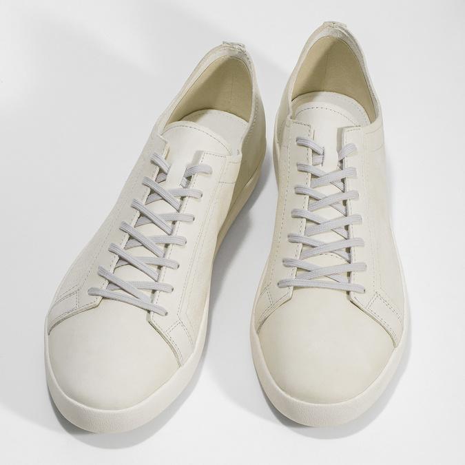 Pánské kožené tenisky světle béžové vagabond, bílá, 826-1020 - 16