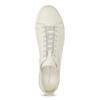 Pánské kožené tenisky světle béžové vagabond, bílá, 826-1020 - 17