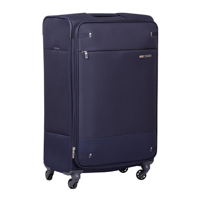 Tmavě modrý texilní kufr na kolečkách větší samsonite, modrá, 960-9042 - 13