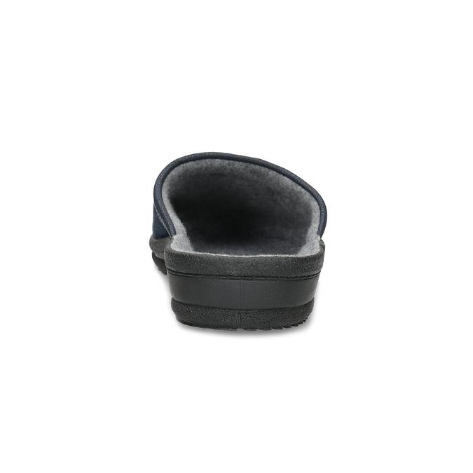 Pánská domácí obuv bata, modrá, 879-9600 - 15