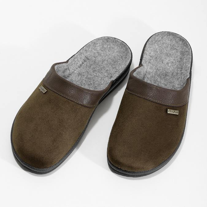 Pánská domácí obuv bata, hnědá, 879-4600 - 16