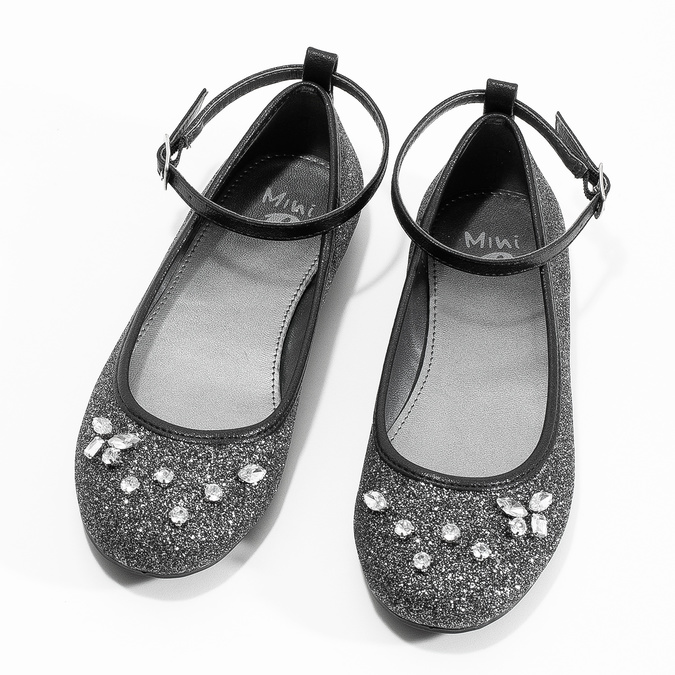 Dívčí baleríny se třpytkami mini-b, stříbrná, 329-6294 - 16