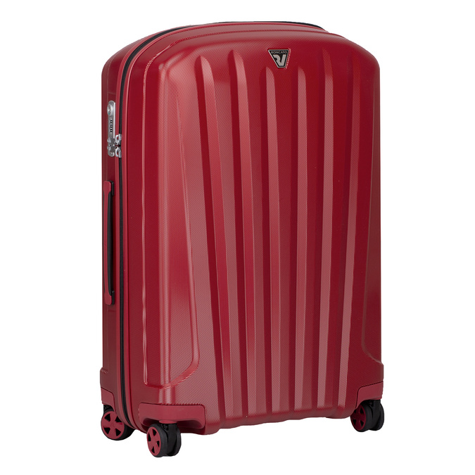 Červený skořepinový kufr na kolečkách velký roncato, červená, 960-5736 - 13