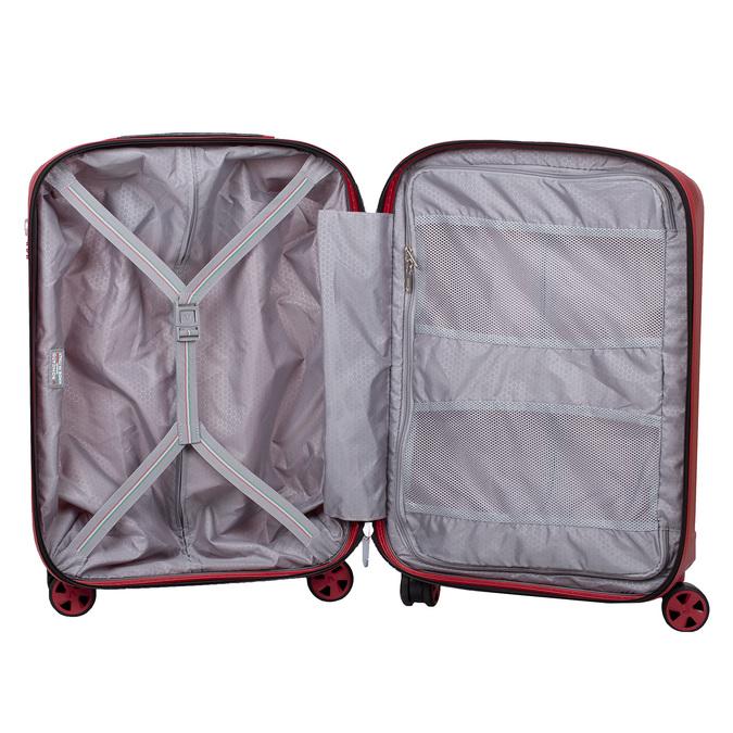 Červený skořepinový kufr na kolečkách malý roncato, červená, 960-5738 - 17