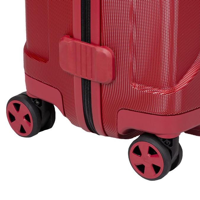 Červený skořepinový kufr na kolečkách velký roncato, červená, 960-5736 - 16