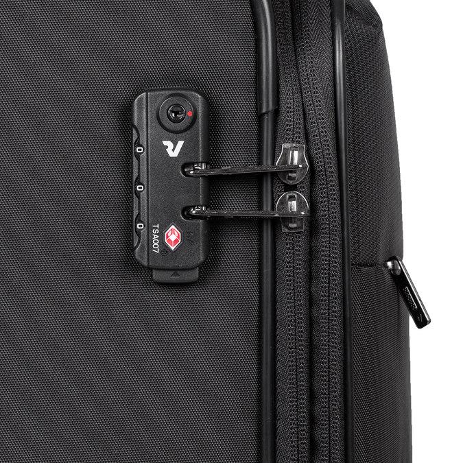 Středně velký textilní kufr na kolečkách roncato, černá, 969-6710 - 15