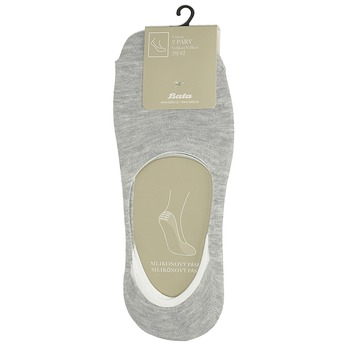 Nízké vykrojené ponožky šedé bata, šedá, 919-2818 - 13