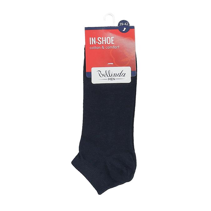 Pánské bavlněné nízké ponožky černé bellinda, modrá, 919-9817 - 13