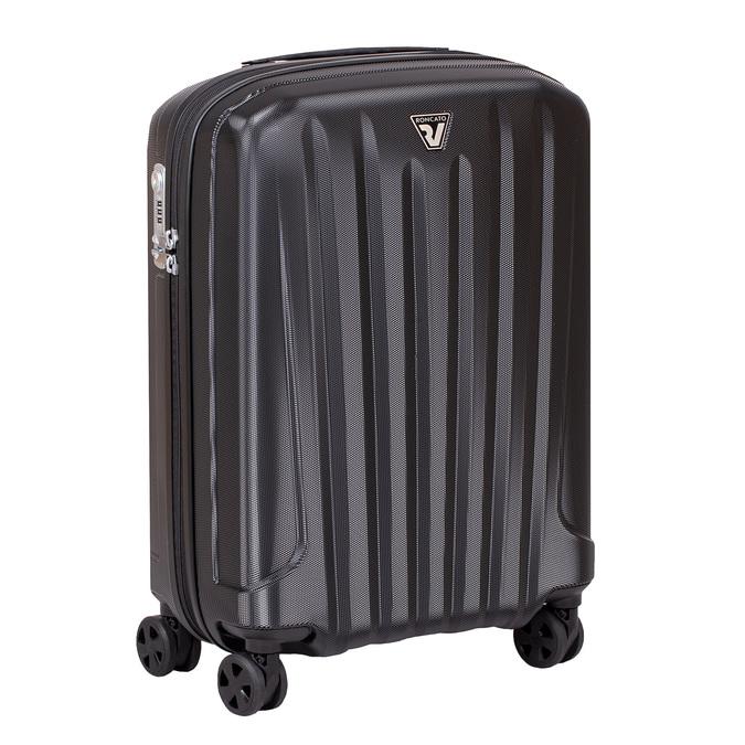 Černý kufr na kolečkách pevný malý roncato, černá, 960-6735 - 13