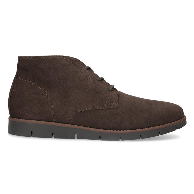 Pánská kotníčková kožená obuv hnědá flexible, hnědá, 823-4632 - 19