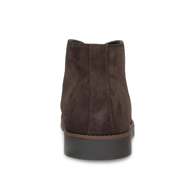 Pánská kotníčková kožená obuv hnědá flexible, hnědá, 823-4632 - 15