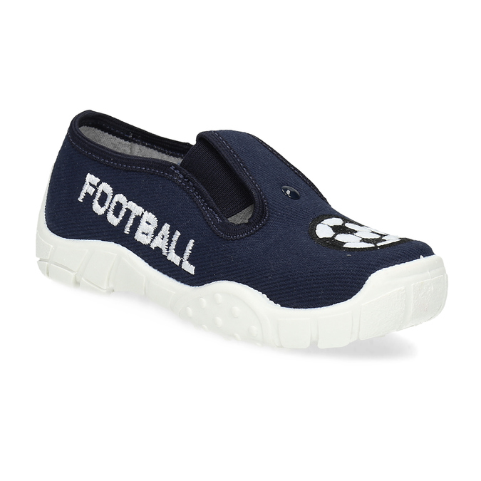 Tmavě modrá dětská Slip-on obuv mini-b, modrá, 379-9601 - 13