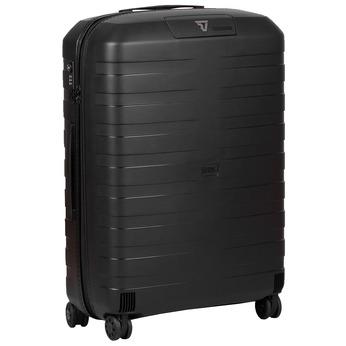 Velký černý skořepinový kufr roncato, černá, modrá, 960-9727 - 13