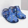 Kotníčkové modré přezůvky se vzorem bata, modrá, 179-9212 - 26