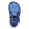 Kotníčkové modré přezůvky se vzorem bata, modrá, 179-9212 - 17