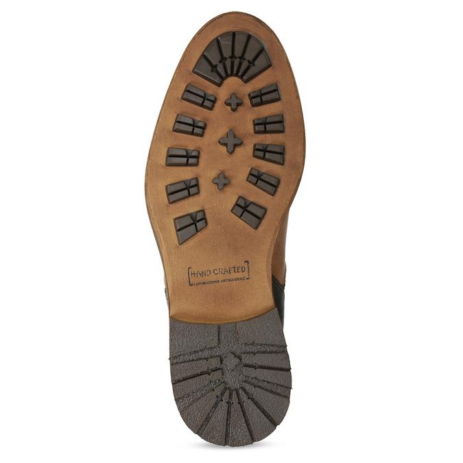 Kotníčková kožená obuv pánská hnědá bata, hnědá, 826-3505 - 18