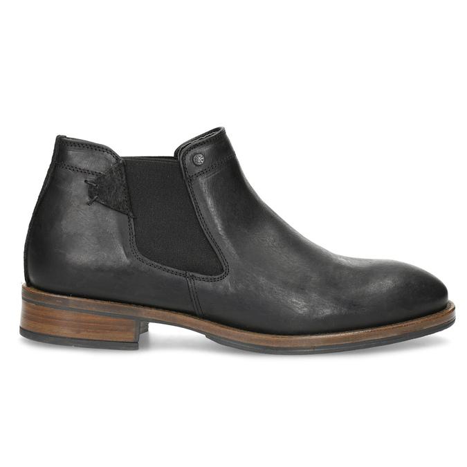 Pánské Chelsea kožené černé bata, černá, 826-6504 - 19