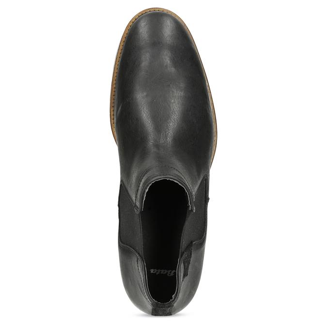 Pánské Chelsea kožené černé bata, černá, 826-6504 - 17