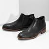 Pánské Chelsea kožené černé bata, černá, 826-6504 - 16