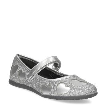 Dívčí baleríny se třpytkami mini-b, šedá, 229-2214 - 13