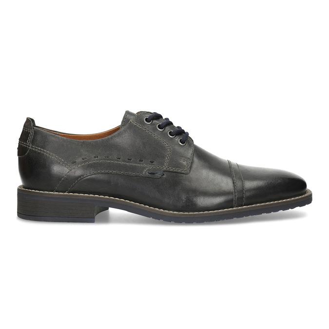 Pánské kožené Derby polobotky bata, černá, 826-2866 - 19