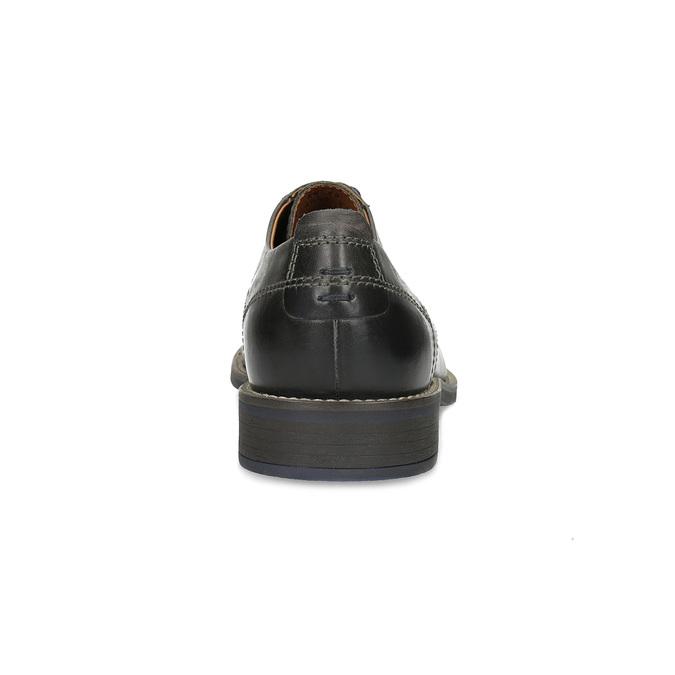 Pánské kožené Derby polobotky bata, černá, 826-2866 - 15