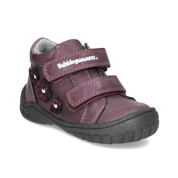 Bubblegummers Fialové dívčí boty s kytičkami - Do školky 0160884ea5