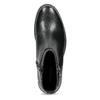 Kožená dámská kotníčková obuv s přezkou vagabond, černá, 514-6140 - 17