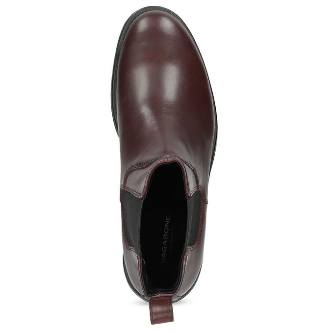 Hnědá kožená dámská Chelsea obuv vagabond, hnědá, 516-4130 - 17