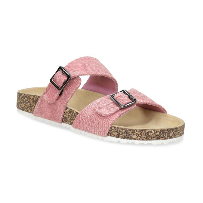 Dámské korkové pantofle růžové bata, růžová, 579-5625 - 13