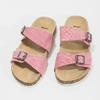Dámské korkové pantofle růžové bata, růžová, 579-5625 - 16