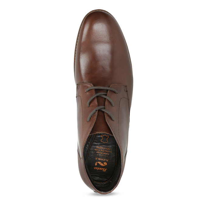 Pánské kožené hnědé Chukka Boots flexible, hnědá, 826-4972 - 17